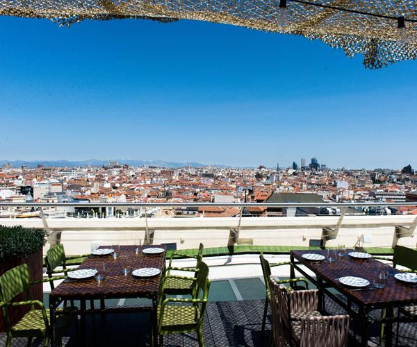 Rooftops Plans And Terraces In Madrid In Spring And Summer